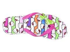 Hello Kitty Women's Platform Wedge Flip Flops, White