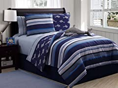 Reversible Bedding Set (Twin) - Shark