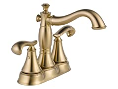 Double Handle Bathroom Faucet, Bronze