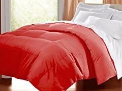 Egyptian Cotton Down Alternative Comforter - Brick