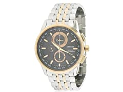 Eco-Drive World Mens Chronograph A-T
