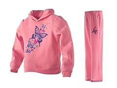 Girls Fleece Set - Butterfly, Pink(4-6X)