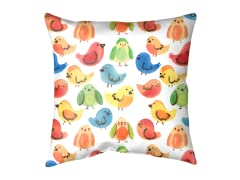"""Rainbow Birds"" Outdoor Cushion"
