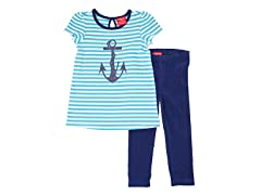 Teal & Navy 2-Piece Legging Set (12M-2T)