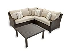 4-Piece Sofa and Coffee Table Set, Slate