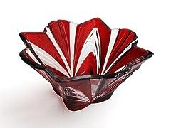 """Aurora Ruby 8"""" Bowl/Votive - Red"""