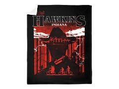 """Visit Hawkins"" Mink Blanket"
