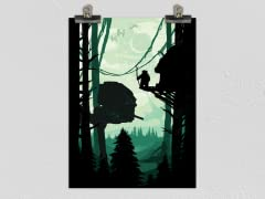 """""""Battle of the Forest Moon"""" Matte Poster"""