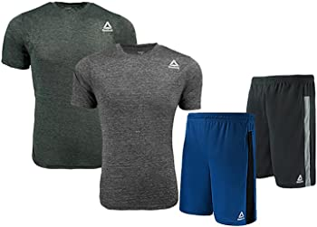 Reebok Men's Heather 2-Pack T-Shirt or 2-Pack Mesh Workout Shorts