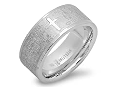Stainless Steel Prayer Band Ring
