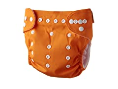 Adjustable Cloth Diaper  - Orange