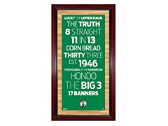 "Boston Celtics 16"" x 32"" Sign"