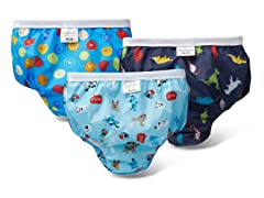 Training Pant 3PK - Woof/Dino/Crazy Circle Blue