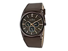 Men's Brown Dial With Rose Gold Accents