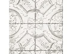 Newport Tin Tile Peel & Stick Wallpaper
