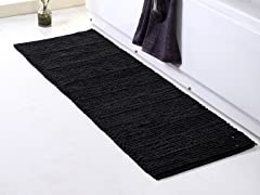 Braided Chenille Oversized Bath Rugs