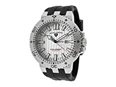 Challenger Watch, White / Silver