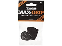 Dunlop Max Grip Carbon Fiber Guitar Picks - 6