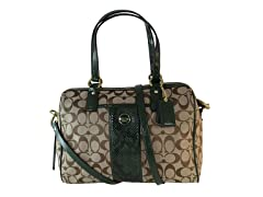 Coach Signature Satchel, Khaki/Green