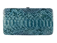 Vecelli Italy Snake Wallet, Blue