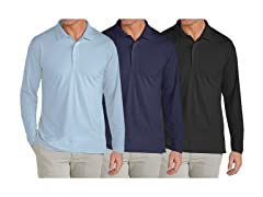 GBH Men's Long Sleeve Polo 3Pk