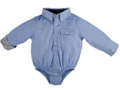 Blue Infant Oxford Shirtzie (3M -24M)
