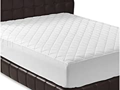 Quilted Fitted Mattress Pad (King)