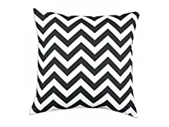Zig Zag Black 26x26 Floor Pillow