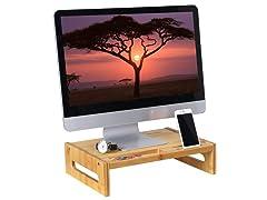 Bamboo Wood Monitor Computer Riser