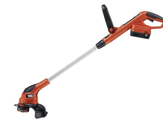 Black Amp Decker 18 Volt Cordless Trimmer Sweeper Kit