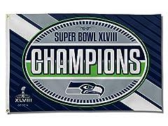Super Bowl Champions Banner Flag