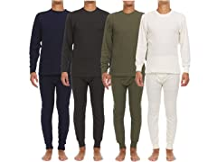 Men's Waffle Knit Thermal Sets 4 Piece