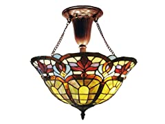 2-Light Semi Flush, Antique Bronze