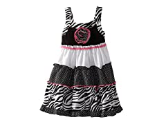 Zebra Print Dress (Sizes 4-6X)