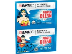 Emtec Duo wipes Superman & Wonder Woman