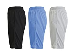 Men's 3-Pack Performance Mesh Shorts