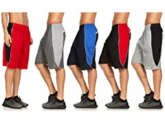 Daresay Mens Athletic Shorts with Pockets 5-Pack