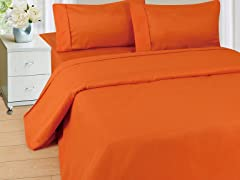Lavish Home Sheet Set - Rust - 3 Sizes