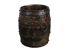 Iron-Studded Wine Barrel