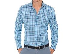 Bertigo Sea Blue Dress Shirt - Medium