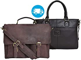 Leather Messenger and Laptop Bags