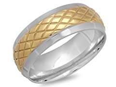 18kt Gold Plated Center X Accent
