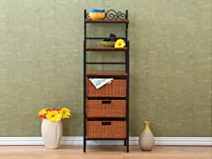 """Manilla"" 3 Drawer Rattan Baker's Rack"