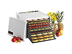 Excalibur 9-Tray Dehydrator with Timer, White