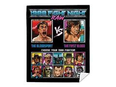 1988 Fight Night Raw Mink Fleece Blanket