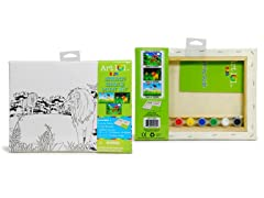Jungle Scene Canvas Paint Set