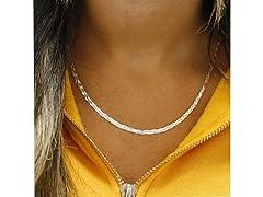 Sterling Silver Braided Herringbone