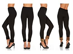 Wmns Fleece Leggings w Cuffed Bottoms 2P