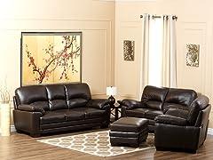 Lauretta Leather 4-Pc Set