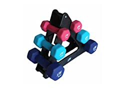 j/Fit 32 lb. Dumbell Set with Stand